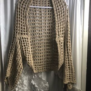 Free People open knit shrug